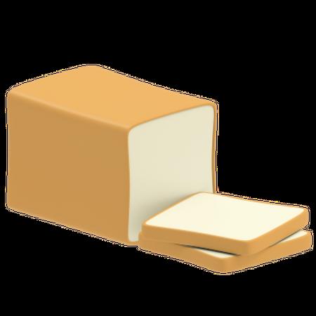 Brown bread 3D Illustration