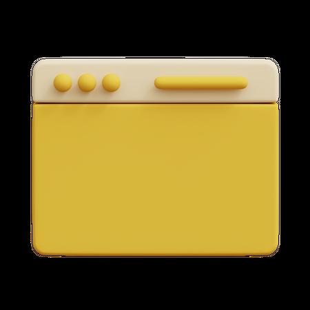 Browser 3D Illustration