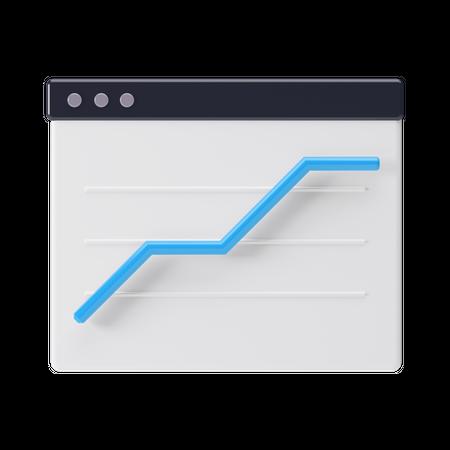 Browser Analytics 3D Illustration
