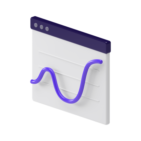 Browser Chart 3D Illustration