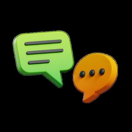 Bubble Chat 3D Illustration