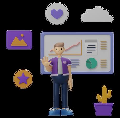 Business analysis 3D Illustration