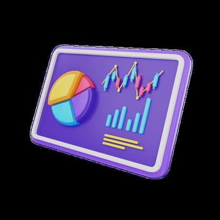 Business Analysis Presentation 3D Illustration