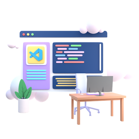 Business Analyzer 3D Illustration