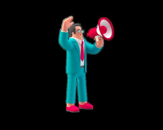 Business Announcement 3D Illustration