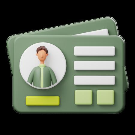 Business Card 3D Illustration