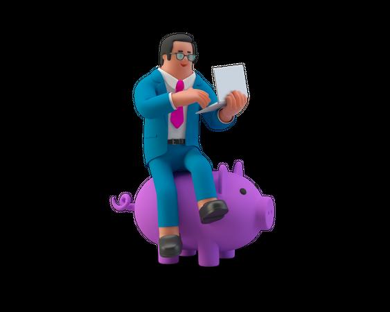 Business Financier 3D Illustration