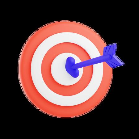 Business goal 3D Illustration