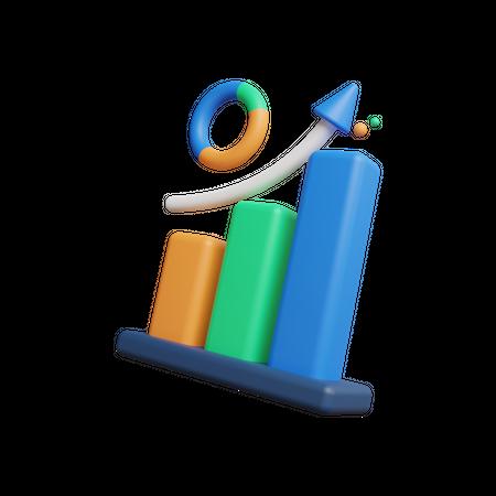 Business Graph 3D Illustration