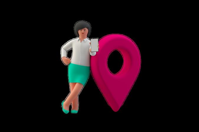 Business location 3D Illustration
