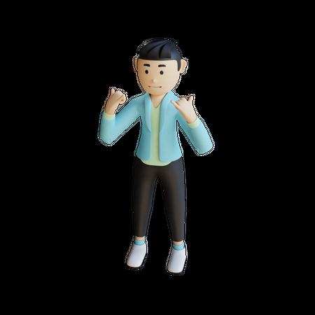 Business Man Doing Celebration 3D Illustration
