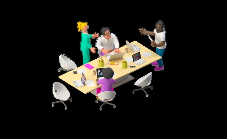 Business Meeting 3D Illustration