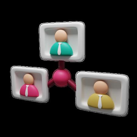 Business Organization 3D Illustration