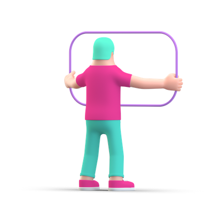 Business person preparing presentation 3D Illustration