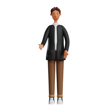 Business person sharing idea 3D Illustration