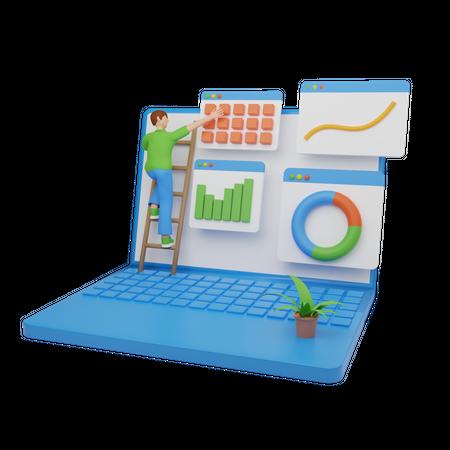 Business planning 3D Illustration
