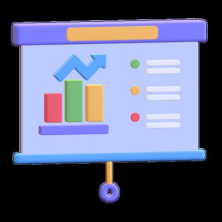 Business Presentation 3D Illustration