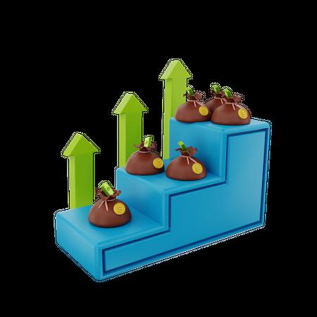 Business Profit 3D Illustration