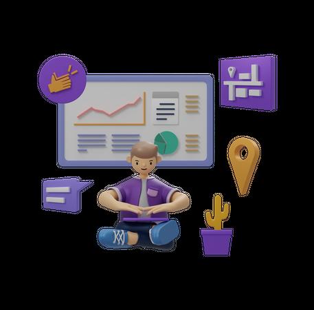 Business tasks 3D Illustration