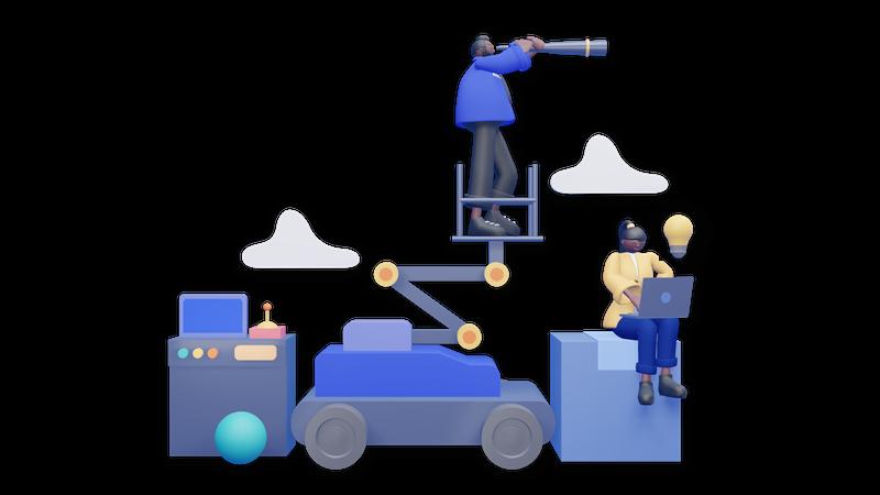 Business vison and misson 3D Illustration