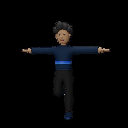 Businessman Celebration 3D Illustration
