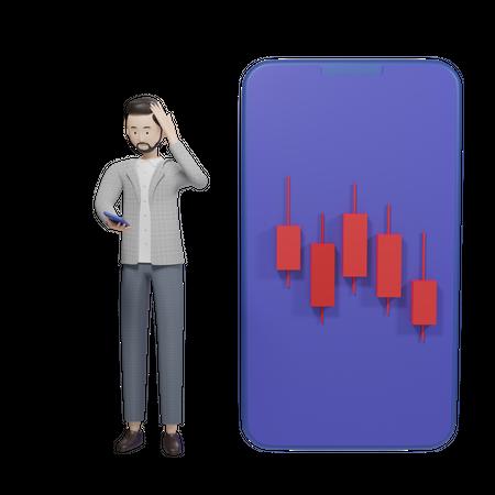 Businessman Huge Loss 3D Illustration
