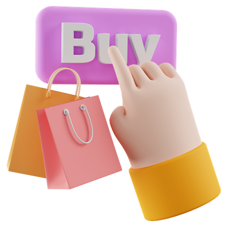 Buy Button 3D Illustration