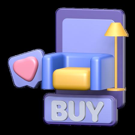 Buy Furniture 3D Illustration