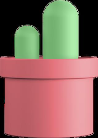 Cactus 3D Illustration