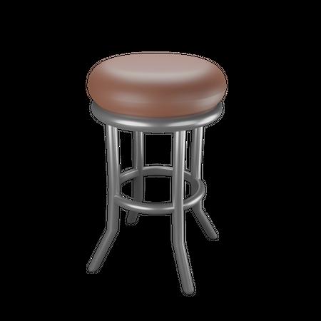 Cafe Chair 3D Illustration