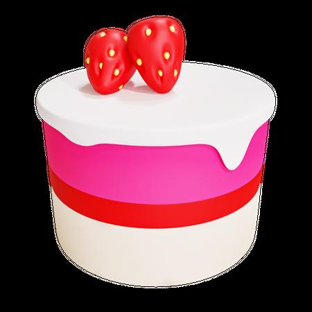 Cake 3D Illustration