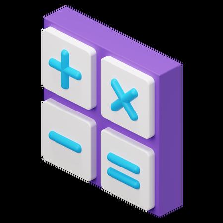 Calculator 3D Illustration