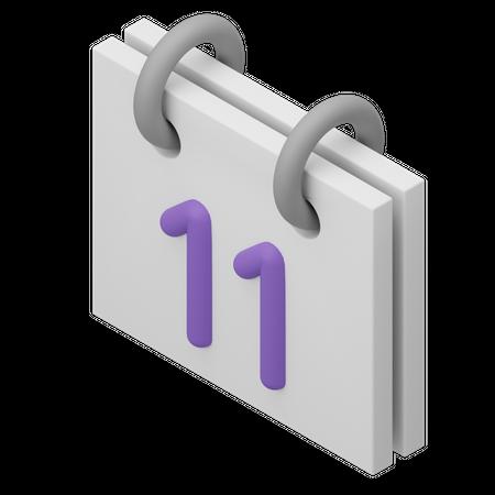 Calendar 3D Illustration