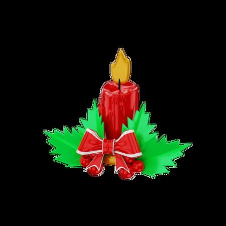 Candles 3D Illustration