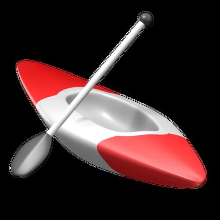 Canoe Sprint 3D Illustration