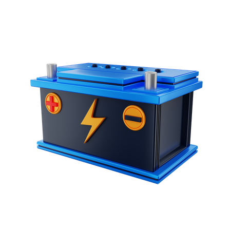 Car Battery 3D Illustration