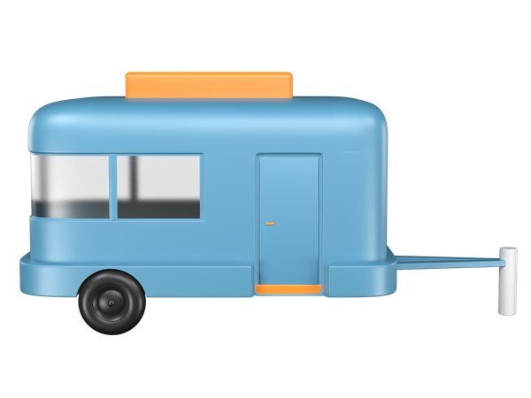 Caravan 3D Illustration
