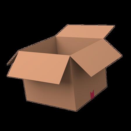 Carboard box 3D Illustration