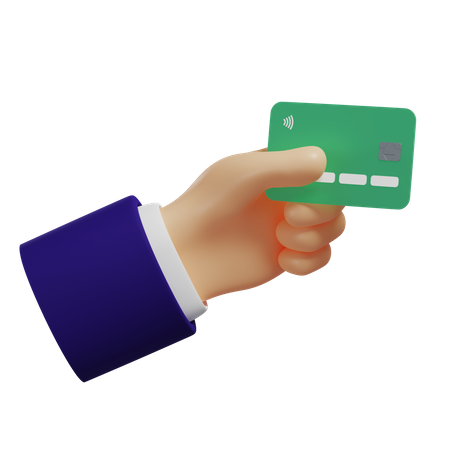 Card Payment 3D Illustration