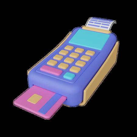 Card swipe machine 3D Illustration
