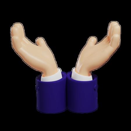Care Hand Gesture 3D Illustration