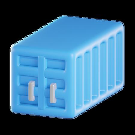 Cargo Container 3D Illustration
