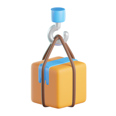 Cargo Crane 3D Illustration