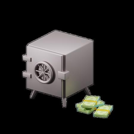Cash Deposit 3D Illustration