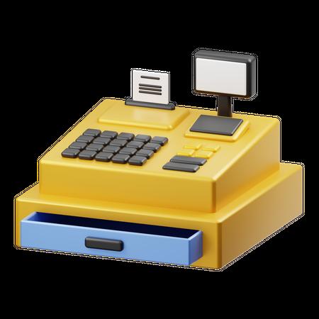 Cash Register 3D Illustration
