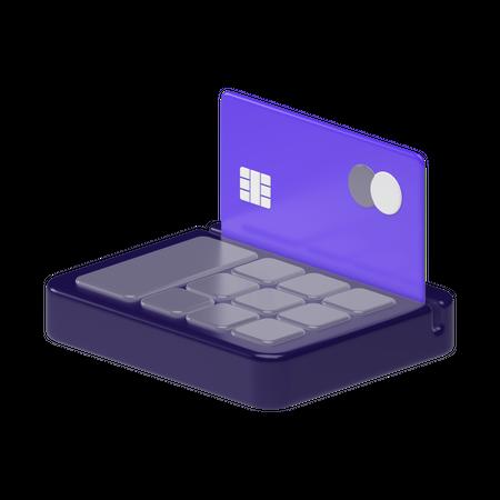 Cash Terminal 3D Illustration