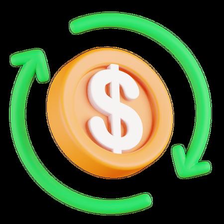 Cashflow 3D Illustration