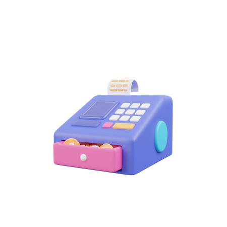 Cashier Machine 3D Illustration