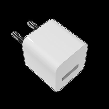 Charging adapter EUR 3D Illustration
