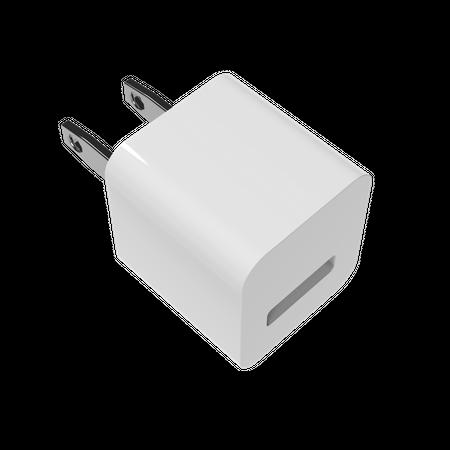 Charging adapter USA 3D Illustration